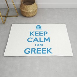 KEEP CALM I AM GREEK Rug