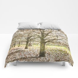 Snow trees Greenwich Park London Comforters