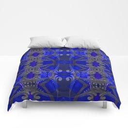 Boujee Boho Harmonic Indigo Color Therapy Comforters