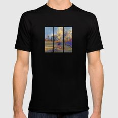 Along The Fence MEDIUM Black Mens Fitted Tee
