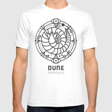 SANDWORM: ARRAKIS BADGE White Mens Fitted Tee LARGE