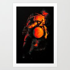 It's a Small Worls After All (Mars) Art Print