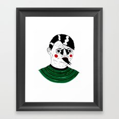 Snake Kid Framed Art Print