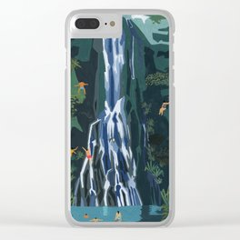 Waterfall stop Clear iPhone Case