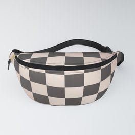 rose gold and black checkers Fanny Pack