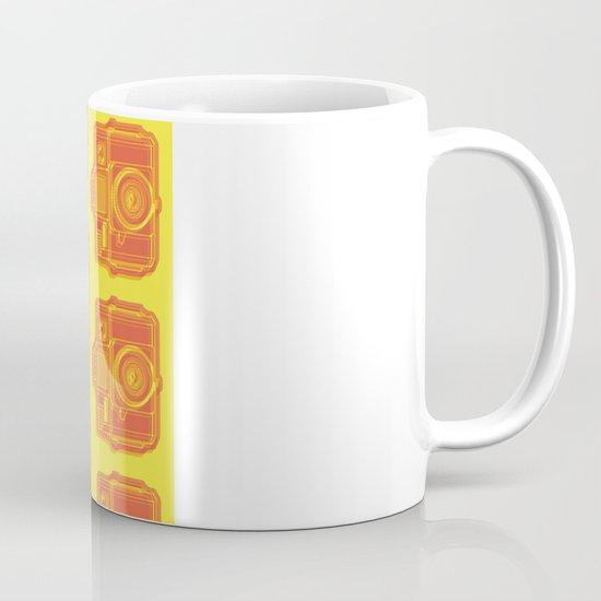 I Still Shoot Film Holga Logo - Yellow & Red Mug