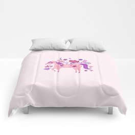 Pink Floral Horse Comforters