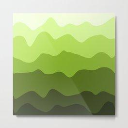 Green Hills Gradient Minimal Landscape Metal Print
