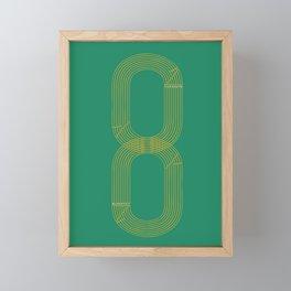 Eight track - runners never quit Framed Mini Art Print