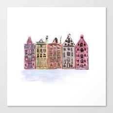 Coloured Houses Canvas Print