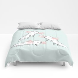 Three Little Axolotls Comforters
