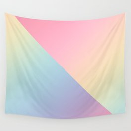 Geometric abstract rainbow gradient Wall Tapestry