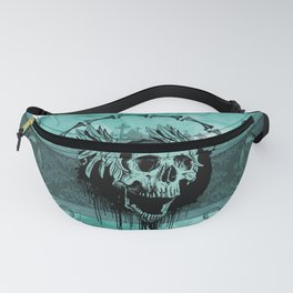 Awesome skull with wings Fanny Pack