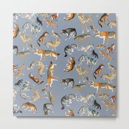 Eurasian wolves pattern Metal Print