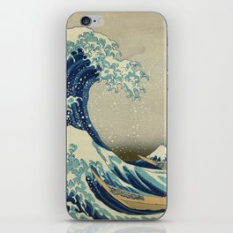 The Classic Japanese Great Wave off Kanagawa Print by Hokusai iPhone Skin