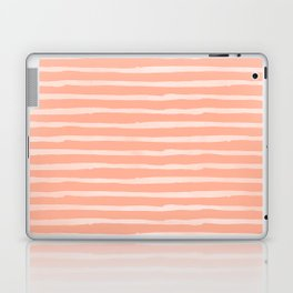 Sweet Life Thin Stripes Peach Coral Pink Laptop & iPad Skin