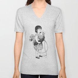 Rooster Girl Unisex V-Neck