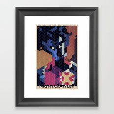 Geometric Nightcrawler Framed Art Print