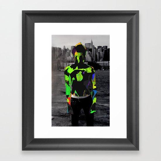 Boy Urban Framed Art Print