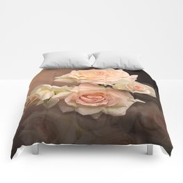The Roses Blush at Dawn Comforters