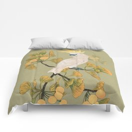 Cockatoo and Ginkgo Tree Comforters