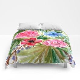 Watercolor Floral Bouquet No. 1 Comforters