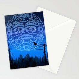 qathet Moonrise Stationery Cards