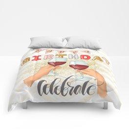 Happy Birthday Selebrate Comforters