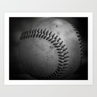 baseball Art Prints featuring Baseball by Christy Leigh