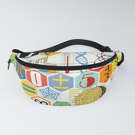 Math in color (white Background) Fanny Pack