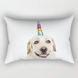 Funny Cute Unicorn Labrador Rectangular Pillow