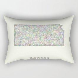 Kansas map Rectangular Pillow