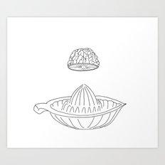 brain juice Art Print