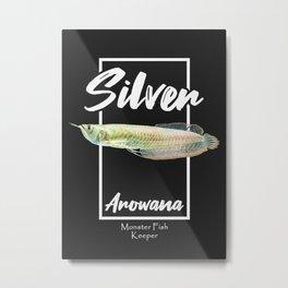 Silver Arowana Fish Keeper Metal Print