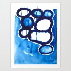 Paint 4 abstract modern art urban home decor dorm college fine art canvas painting print affordable Art Print