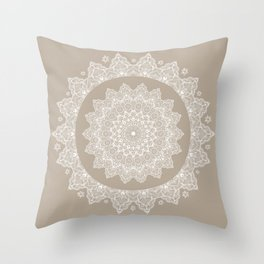 Baja Dunes Mandala Lace Bohemian Décor Throw Pillow