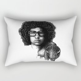 Omar Rodriguez Lopez and his bison Rectangular Pillow