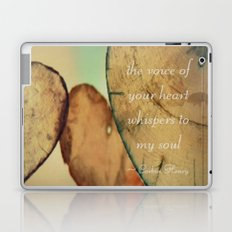 The Voice Of Your Heart Whispers To My Soul - Wind Chimes - Rustic - Wedding - Valentine's Day Laptop & iPad Skin