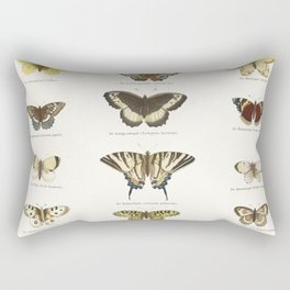 Vintage Butterfly Chart Rectangular Pillow