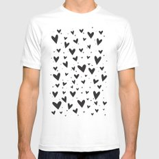 Heart Attack MEDIUM White Mens Fitted Tee
