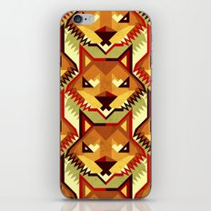 The Bold Wolf pattern iPhone & iPod Skin