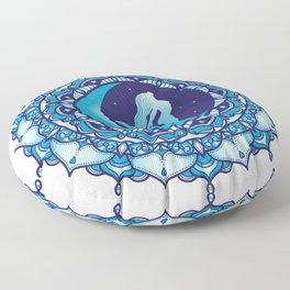 Crescent Moon Mandala Floor Pillow