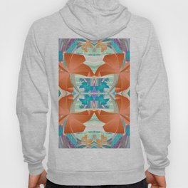 Smooth 3D Butterfly Floral Fractal Hoody