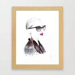 Watercolour Fashion Illustration Titled In Dior Zeli's Framed Art Print
