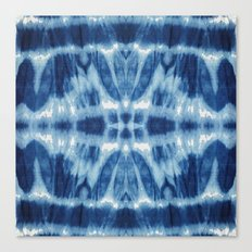 Tie Dye Blues Twos Canvas Print