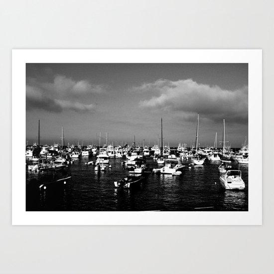 Boats on the Horizon Art Print