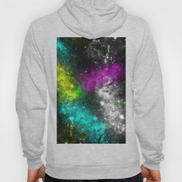 Electric Space - Abstract, neon, colourful space painting Hoody