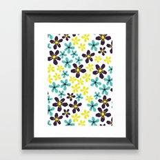 Yellow and Blue Flower Framed Art Print