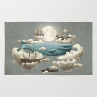 a lot of cats Area & Throw Rugs featuring Ocean Meets Sky by Terry Fan