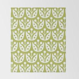 Mid Century Flower Pattern 5 Throw Blanket